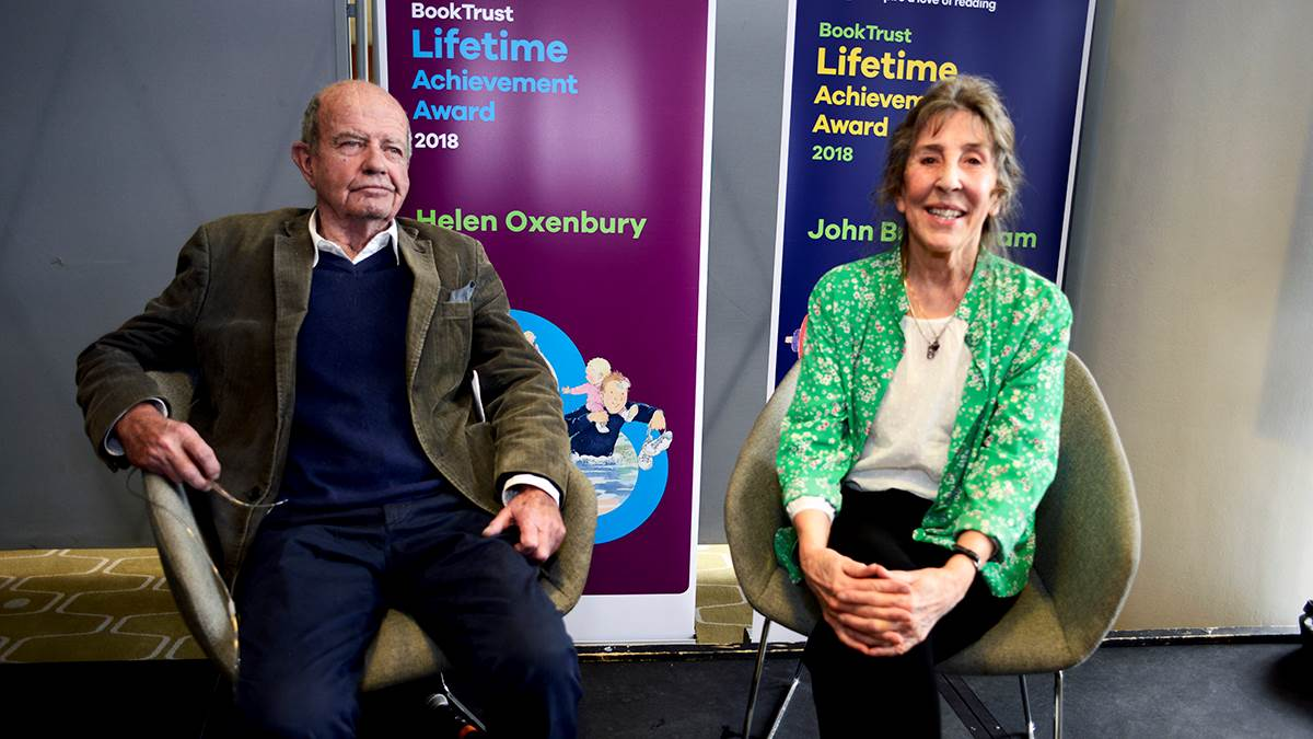 John Burningham and Helen Oxenbury at the 2018 Lifetime Achievement Award ceremony