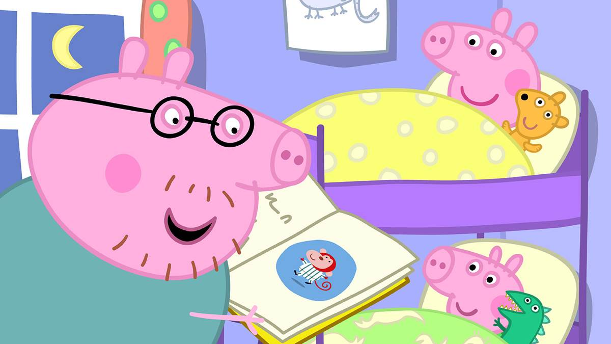 Daddy Pig Shares His Bath Book Bed Tips The Trick Is Not To Fall