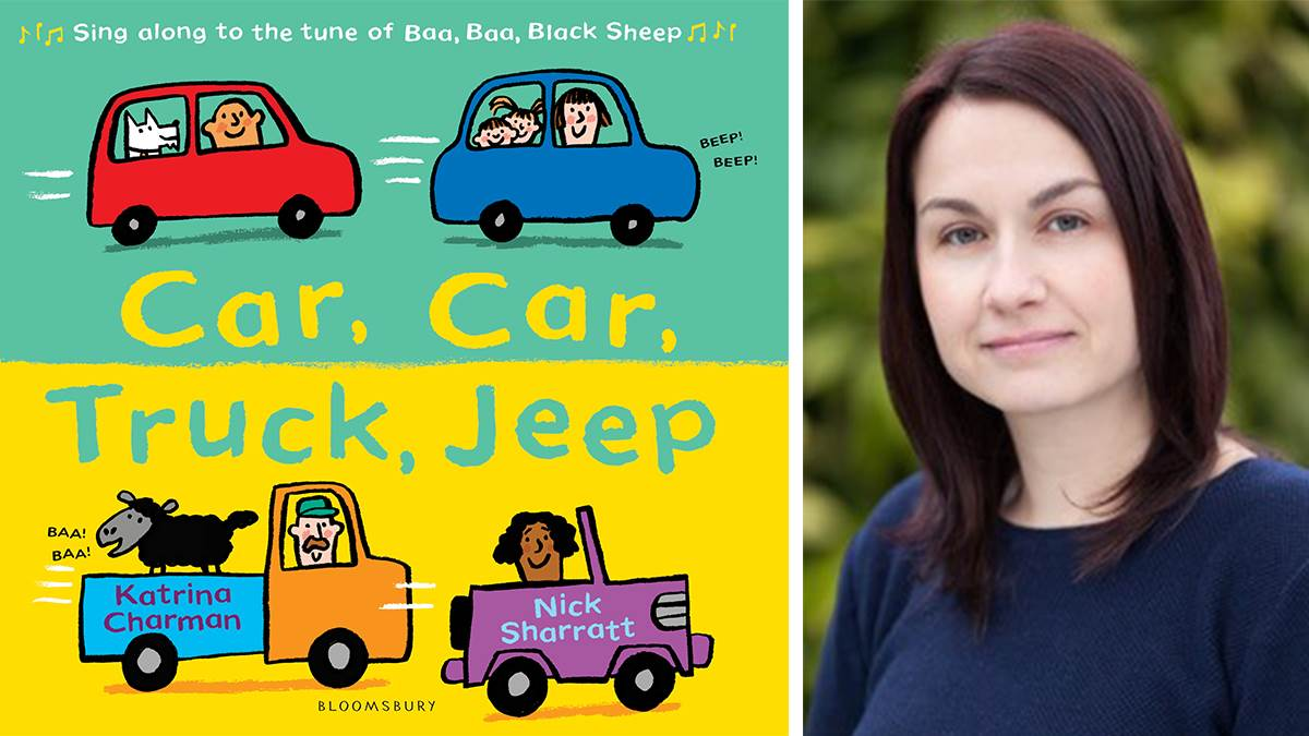Katrina Charman and the cover of Car, Car, Truck, Jeep