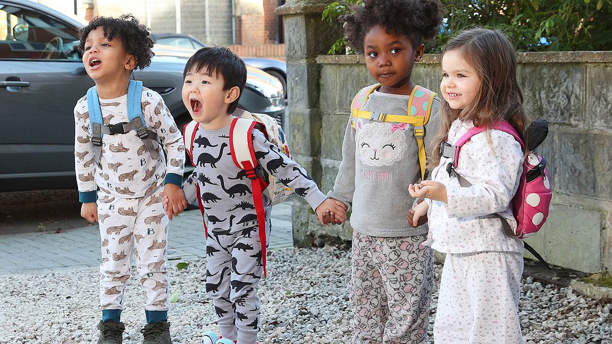 Children in pyjamas for Pyjamarama