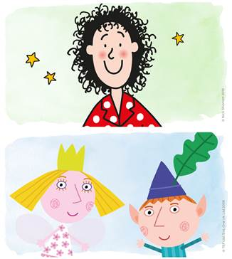 Tracy Beaker and Ben and Holly