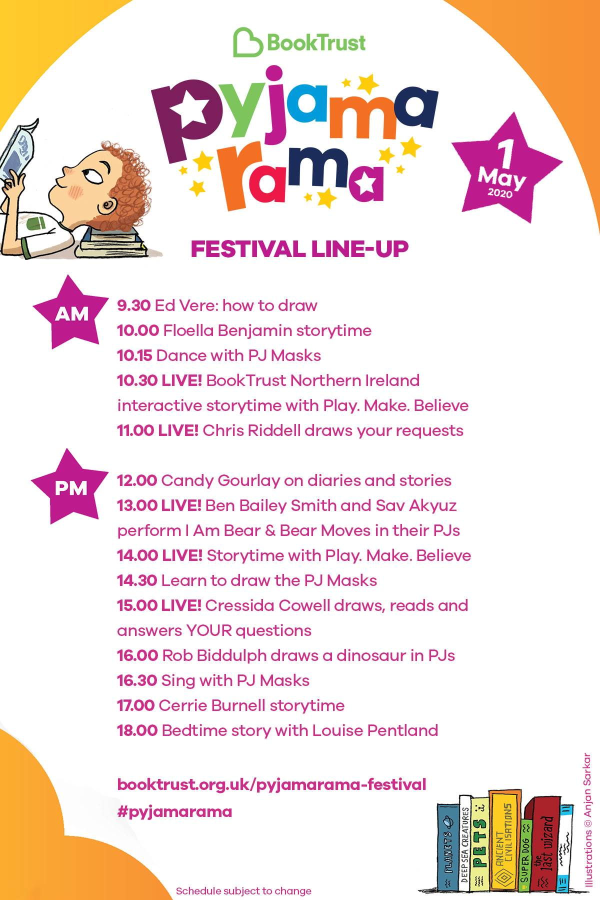 Pyjamarama festival line-up