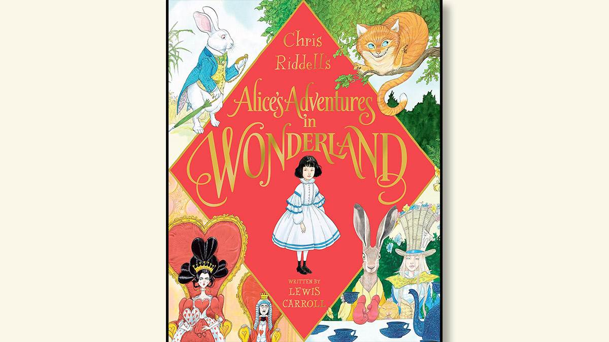 The cover of Chris Riddell's Alice's Adventures in Wonderland