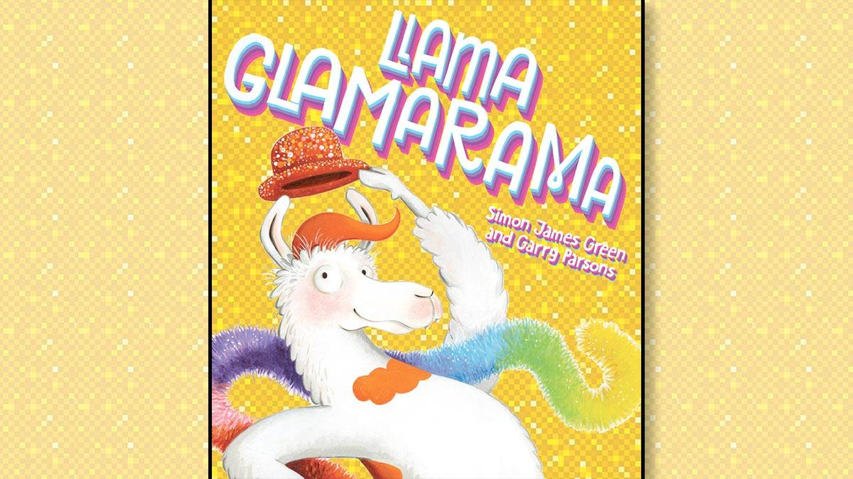 The front cover of Llama Glamarama