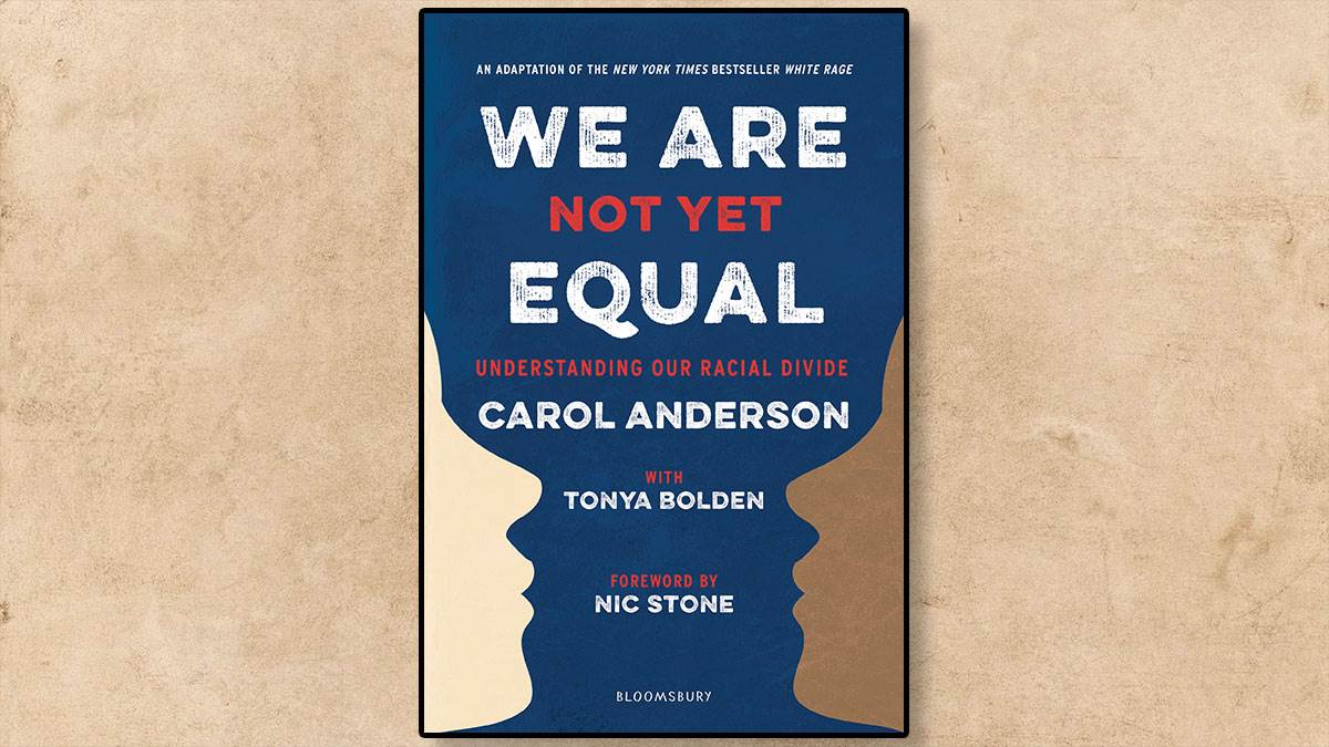 The front cover of We Are Not Yet Equal