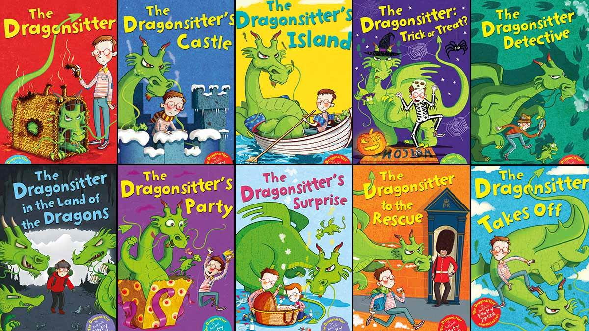 The ten books in the Dragonsitter series