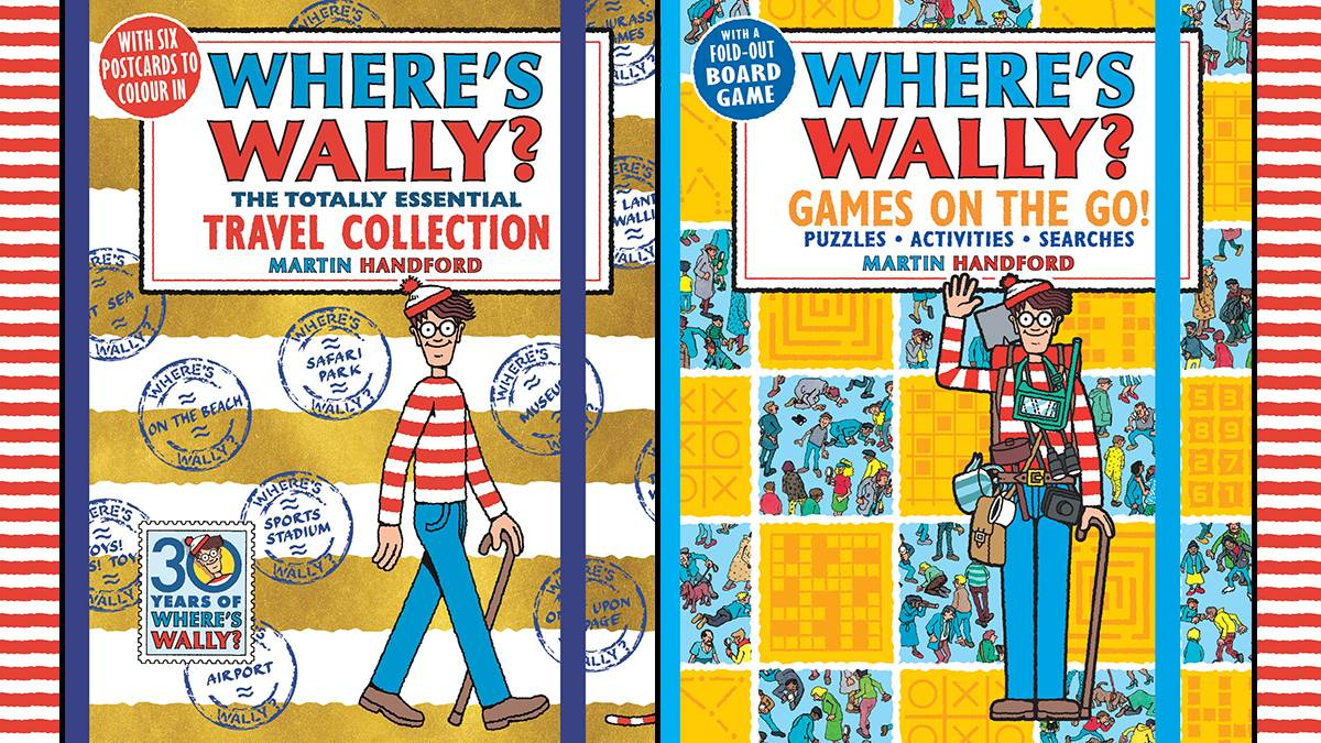 An image of the covers of Where's Wally: The Totally Essential Travel Collection and Where's Wally: Games on the Go