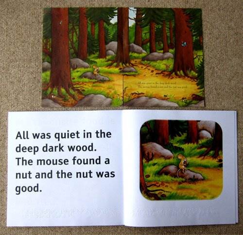 Braille and Large Print Gruffalo book