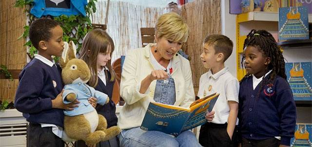 Emma Thompson opens new Peter Rabbit library