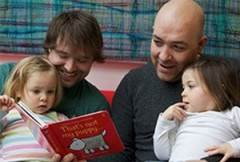 Dads reading with children