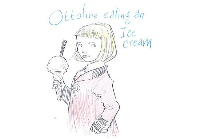 Ottoline eating an ice cream