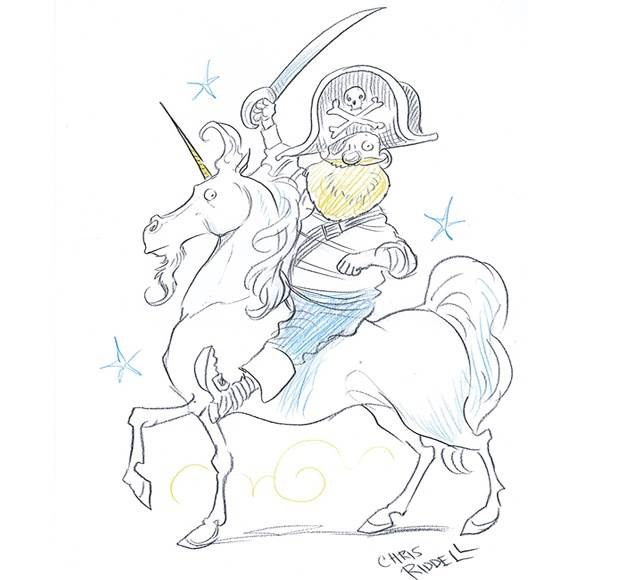 Pirate Riding a Unicorn