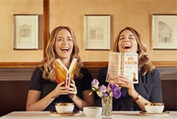 Emily Blunt laughing with Sister
