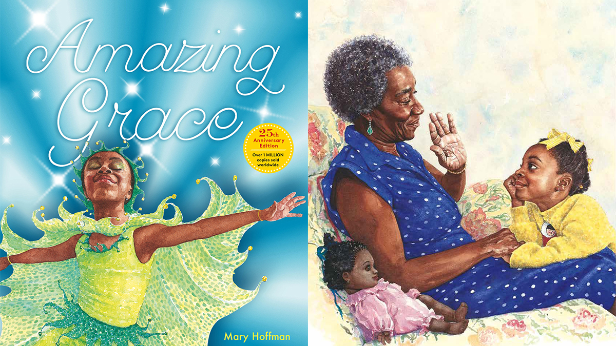 a review of amazing grace by mary hoffman Using amazing grace by mary hoffman, students dig deep into themes such as prejudice, courage, and self-confidence let's talk about stories: shared discussion with amazing grace - readwritethink x.