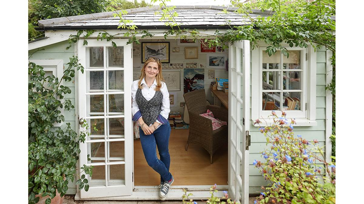 Cressida Cowell's writing shed