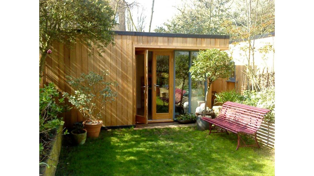 Sophia Bennett's writing shed