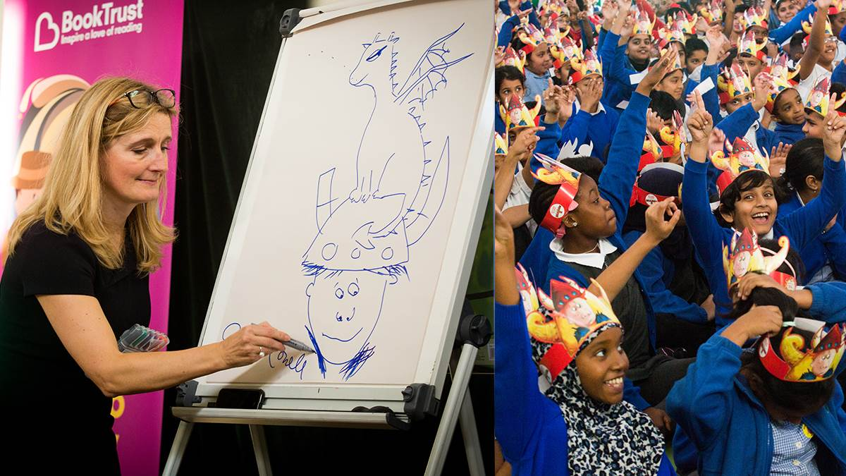 Cressida Cowell during Children's Book Week