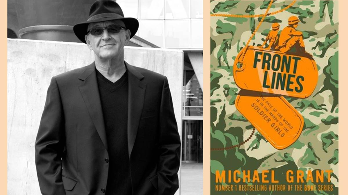 Michael Grant and his book Front Lines