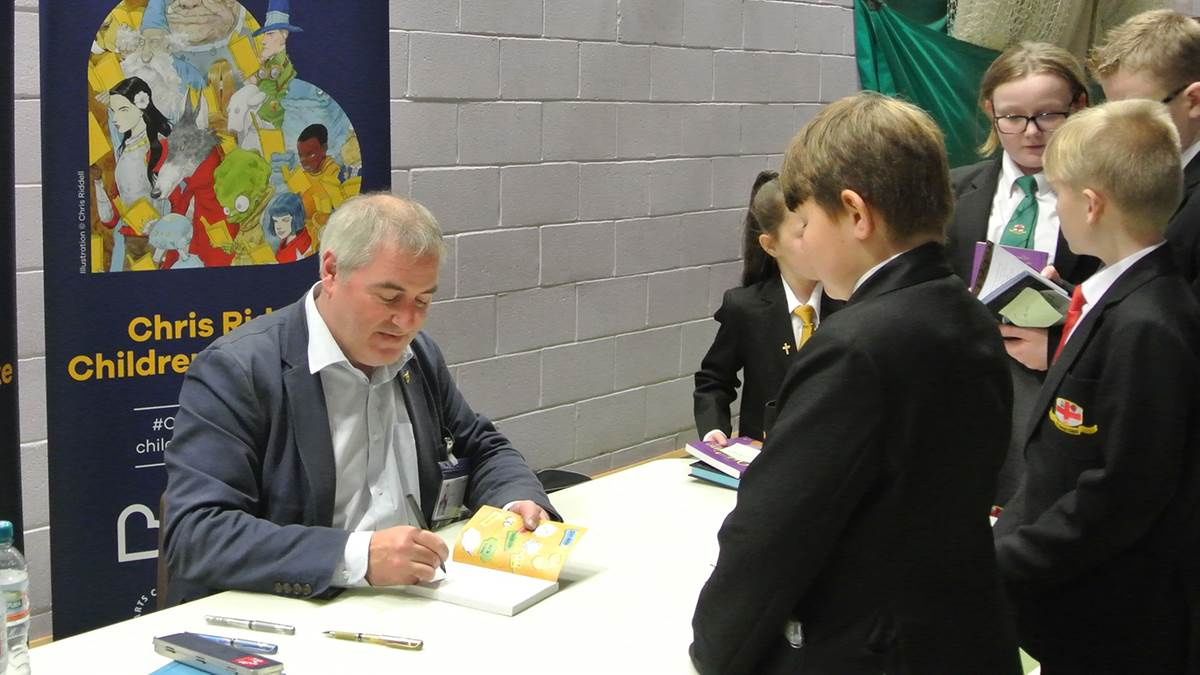 Chris Riddell in Blackpool