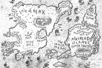 The wonder of maps booktrust heres my map of berk which is at the beginning of the how to train your dragon books it has helped me make my world more believable i know ccuart Images