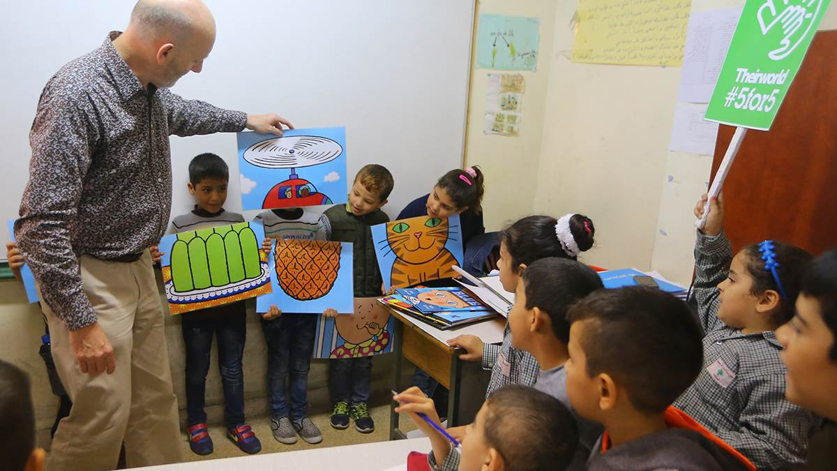 Nick Sharratt in Lebanon