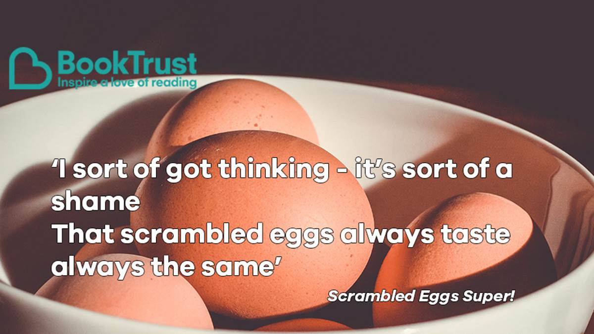 A quote from Scrambled Eggs Super