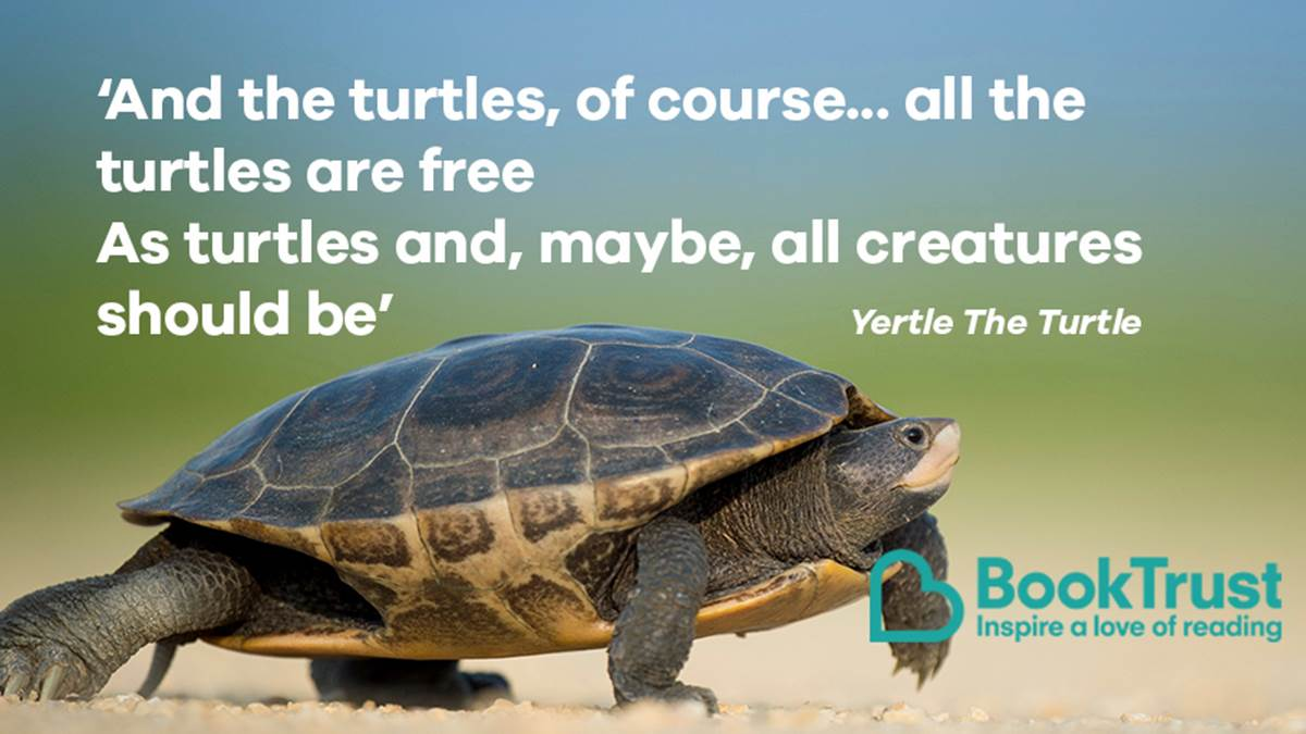A quote from Yertle The Turtle