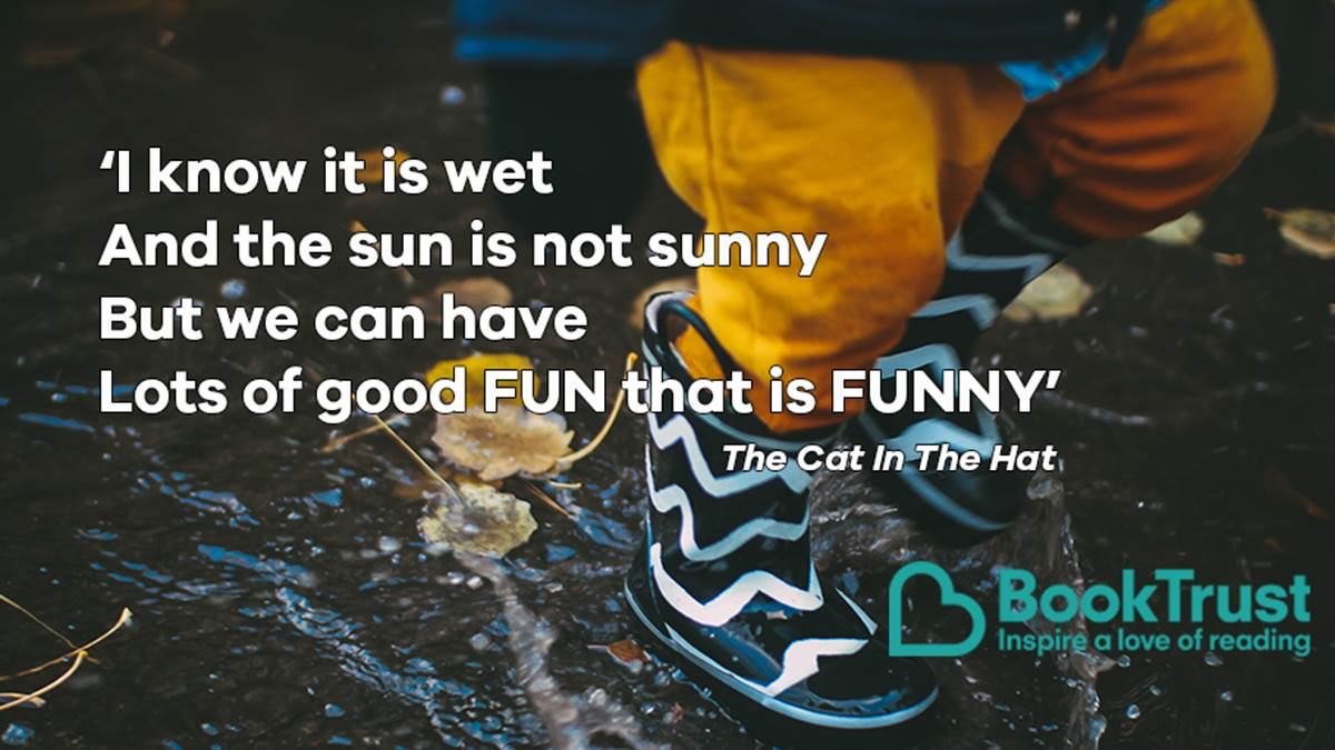 A quote from The Cat in the Hat
