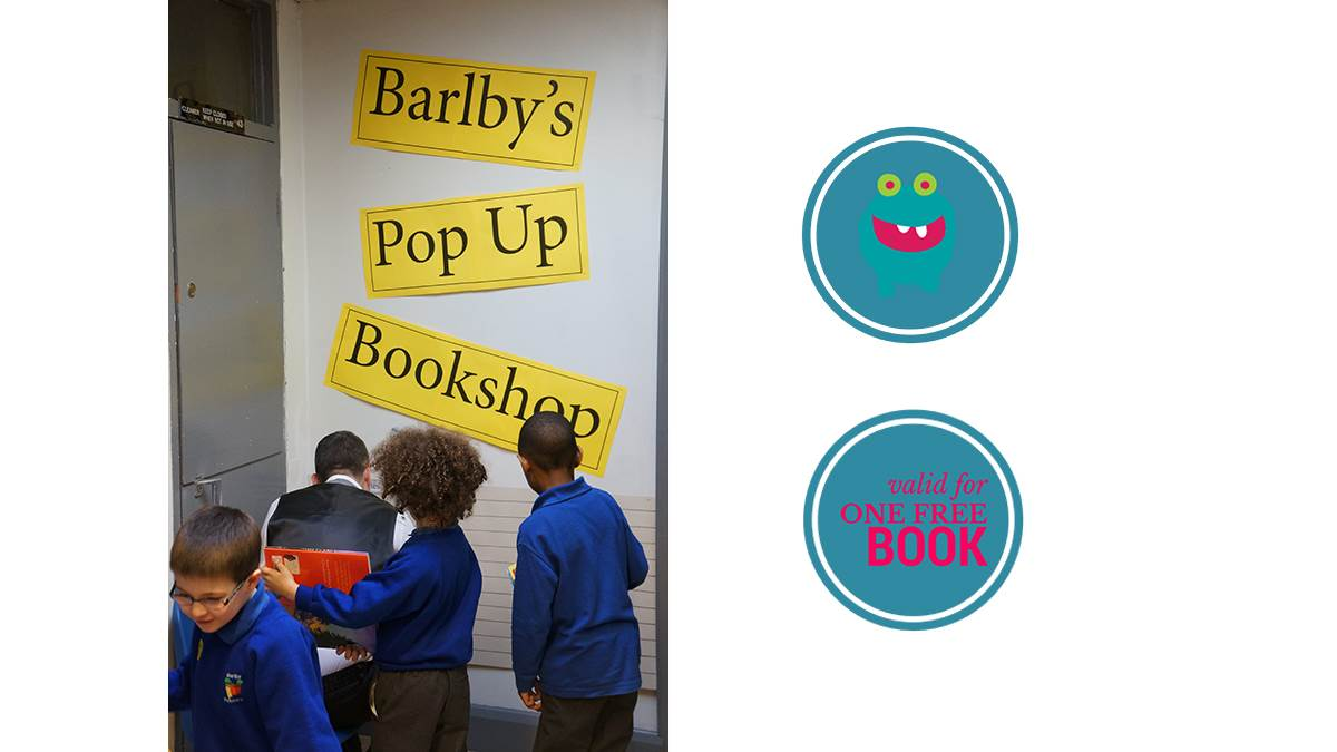 Barlby Primary's pop-up bookshop