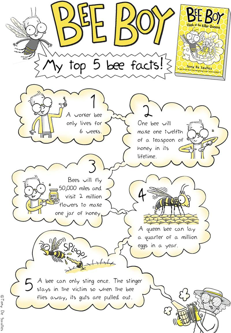 Five amazing bee facts from Bee Boy's author Tony De Saulles