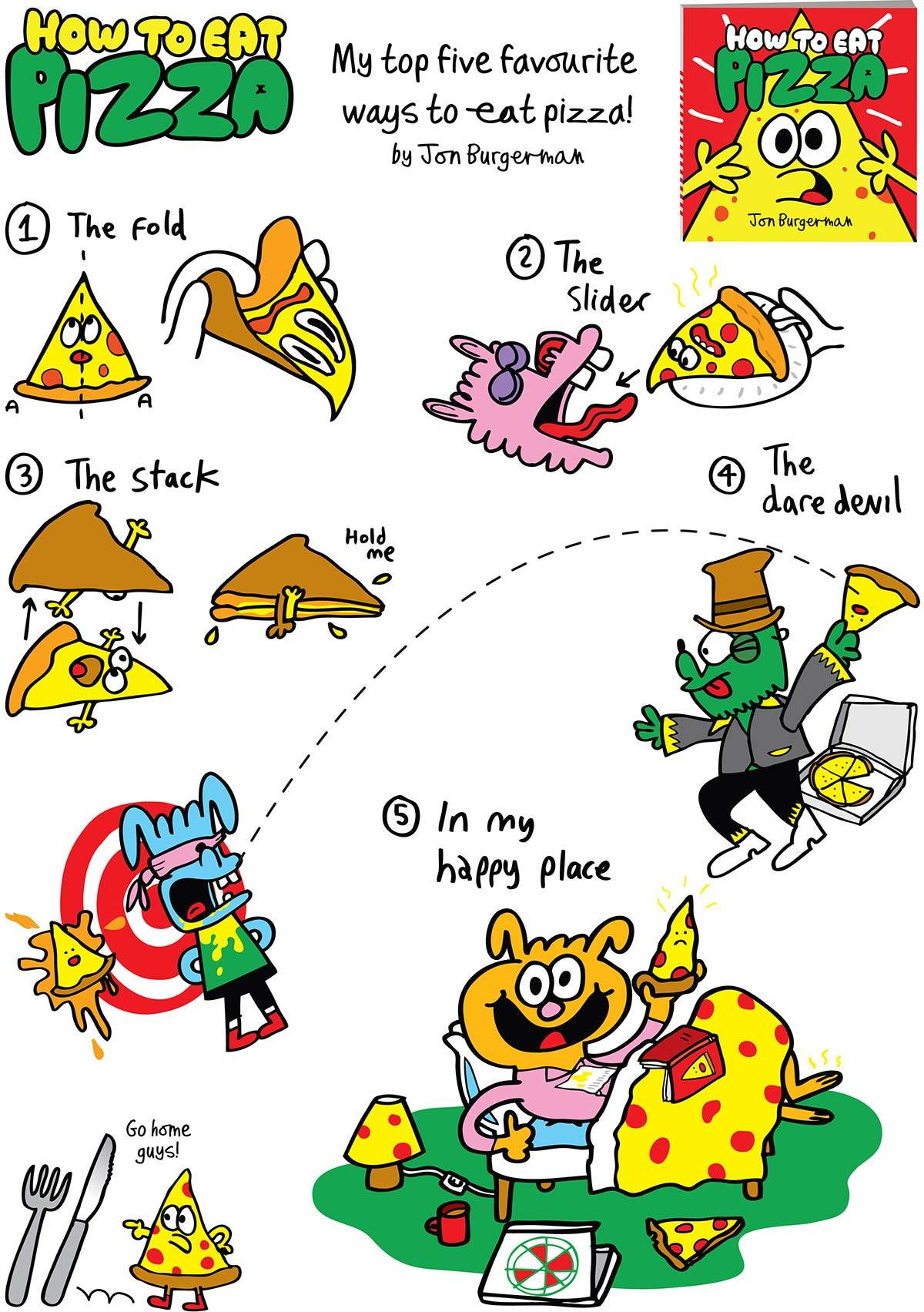 5 ways to eat pizza