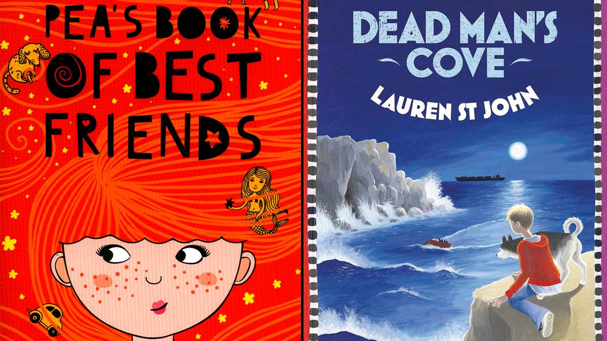 An image of the covers of Pea's Book of Best Friends and Dead Man's Cove