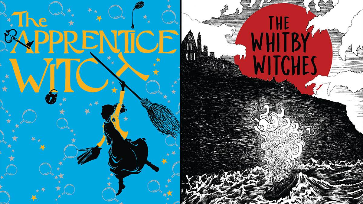 Images of the covers of The Apprentice Witch by James Nicol and The Whitby Witches by Robin Jarvis