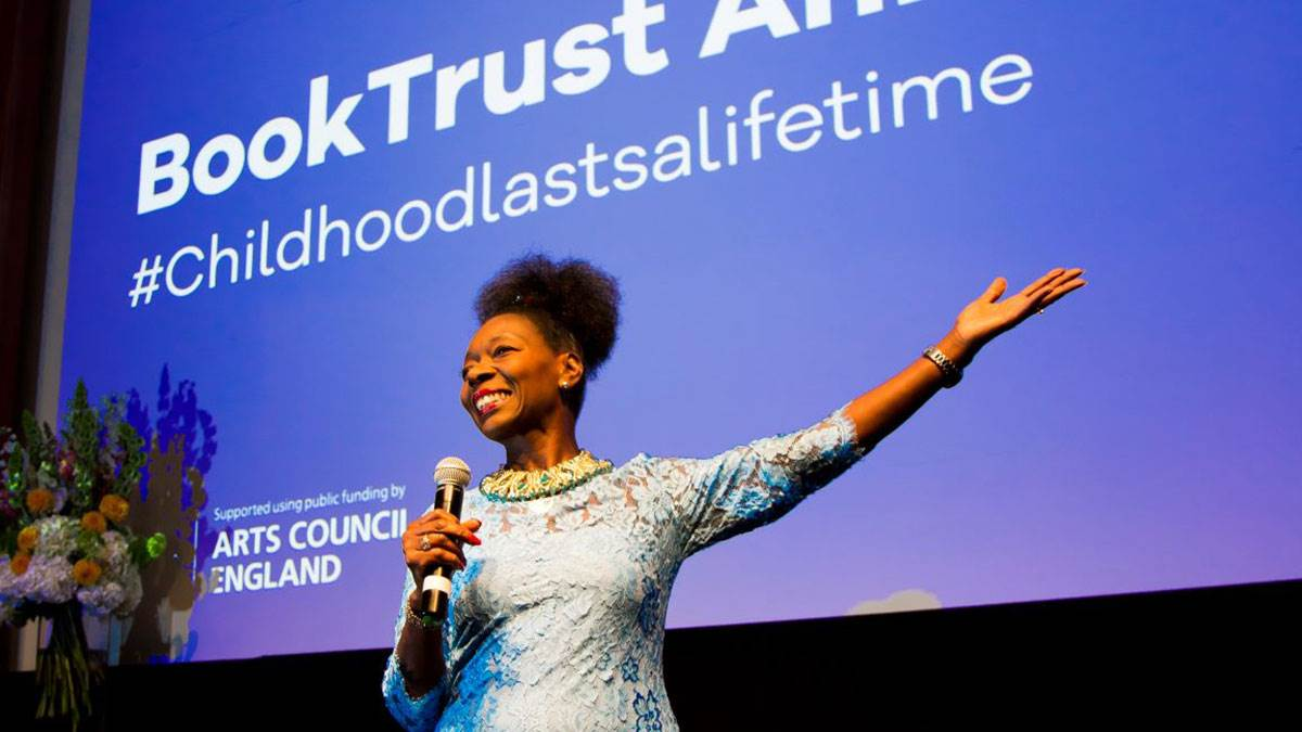 Baroness Floella Benjamin OBE gives the BookTrust Annual Lecture 2018