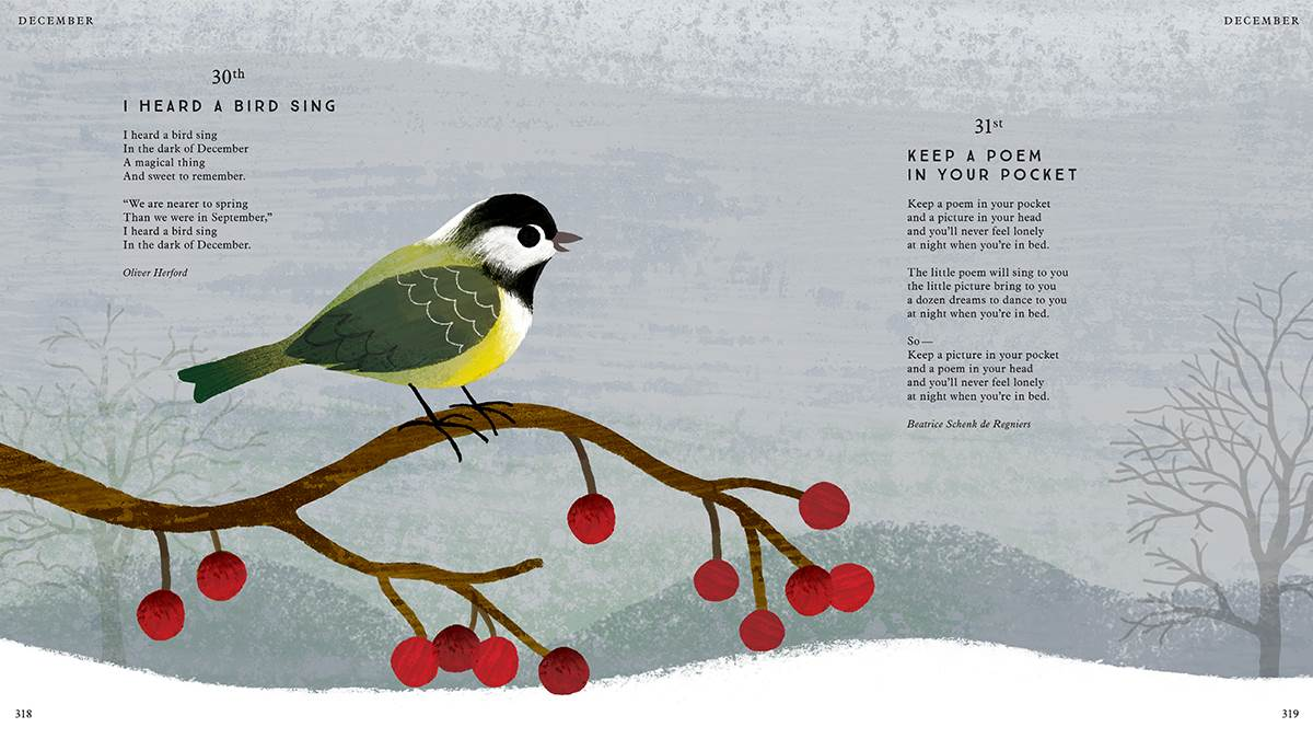 A page from I Am the Seed That Grew the Tree, illustrated by Frann Preston-Gannon