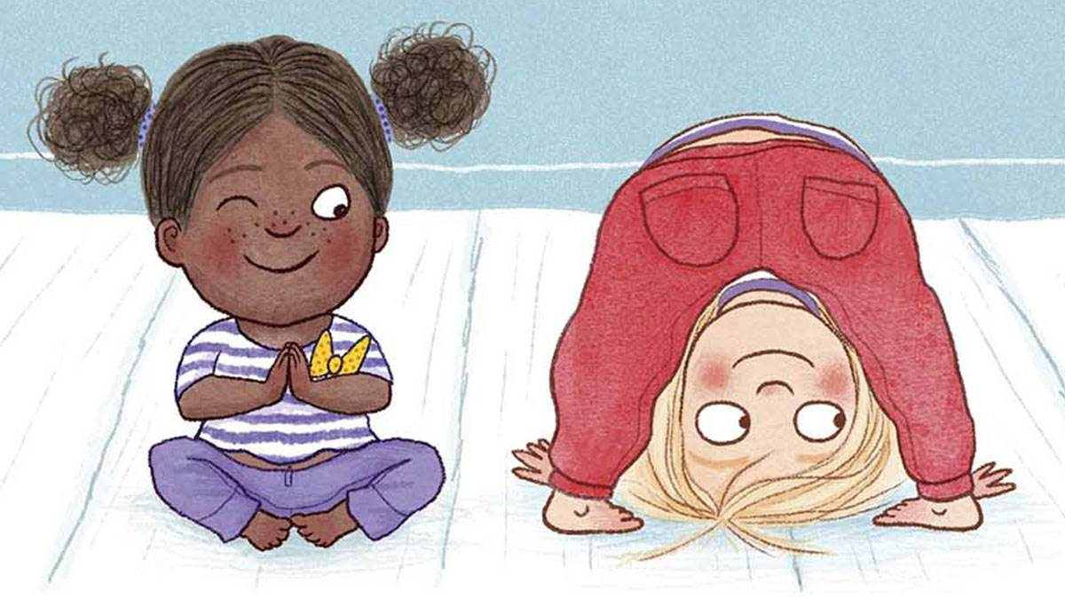 The cover of Yoga Babies by Fearne Cotton and Sheena Dempsey