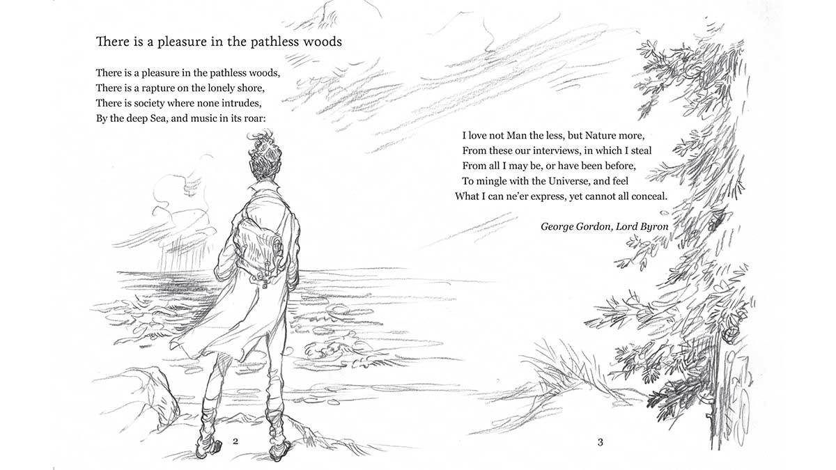 'There is a Pleasure in the Pathless Woods' by Lord Byron, illustrated by Chris Riddell