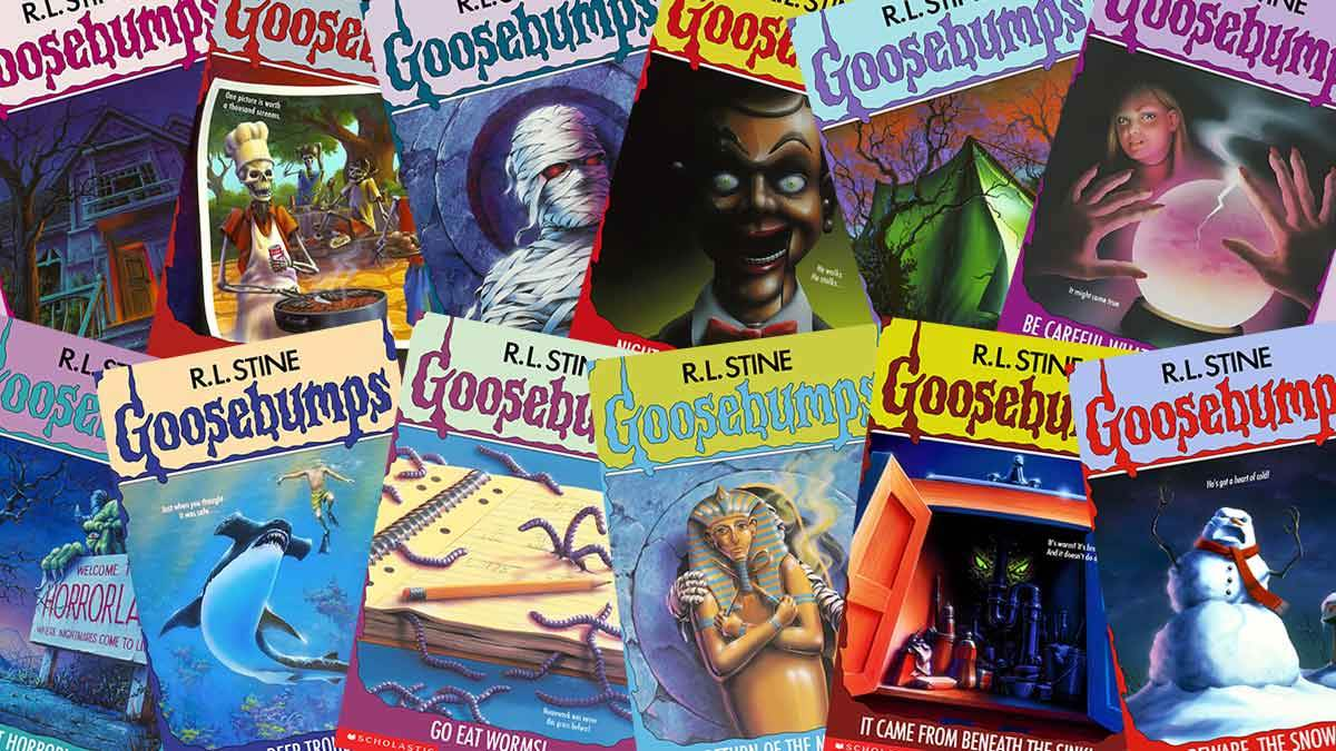 A collection of classic book covers for Goosebumps by RL Stine