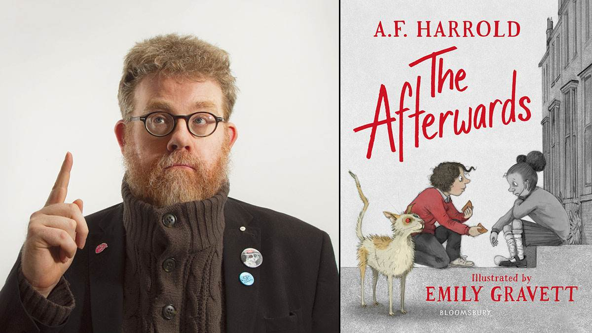 A.F. Harrold and the cover of The Afterwards