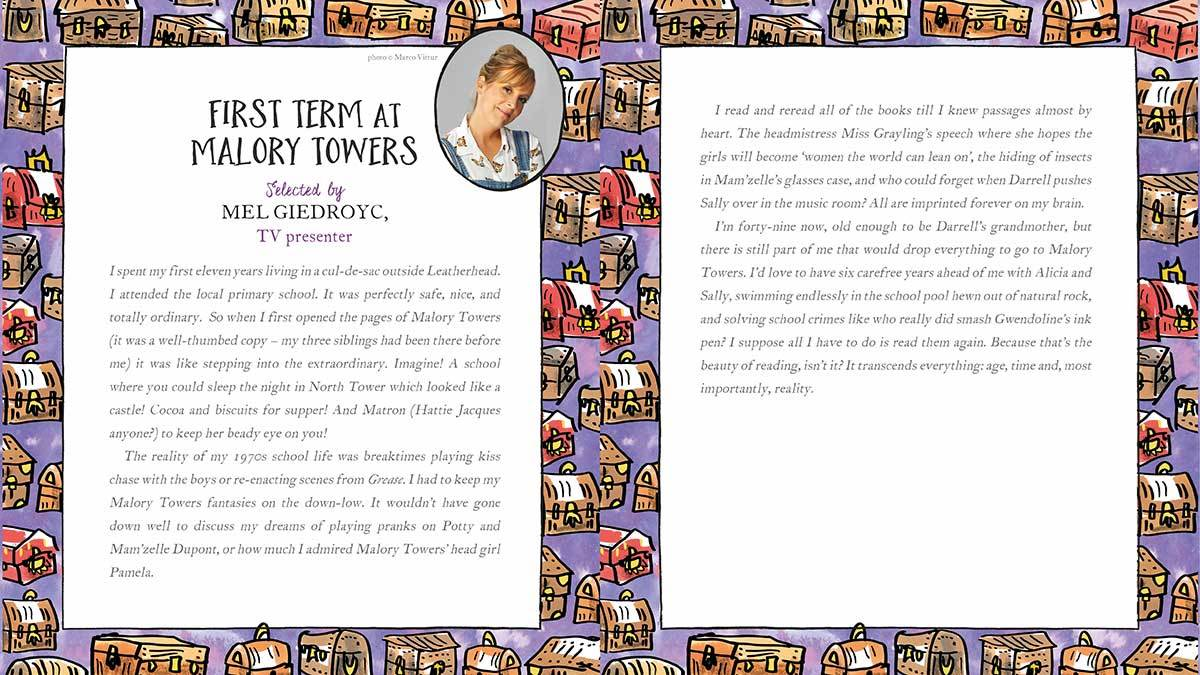 Mel Giedroyc explains why she loves First Term at Malory Towers by Enid Blyton
