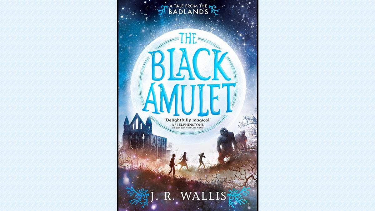 The cover of The Black Amulet by J.R. Wallis