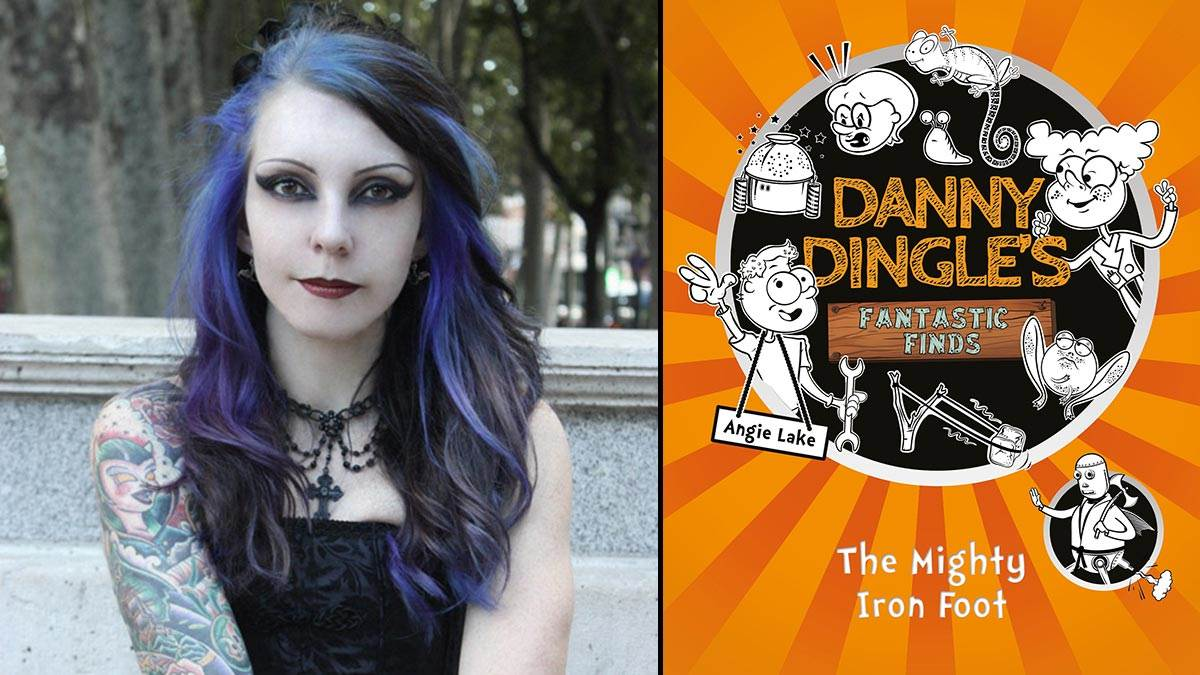 Angie Lake and her book Danny Dingle's Fantastic Finds: The Mighty Iron Foot