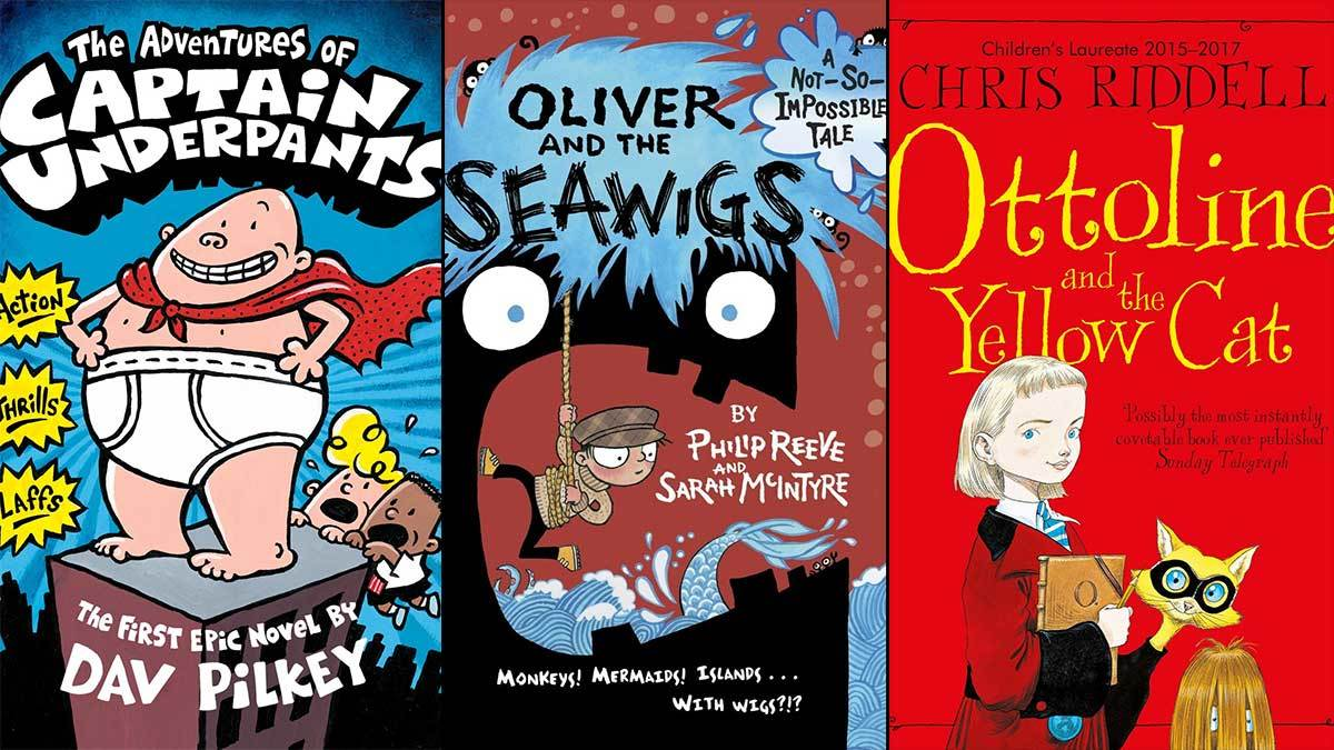 The Adventures of Captain Underpants, Oliver and the Seawigs, Ottoline and the Yellow Cat