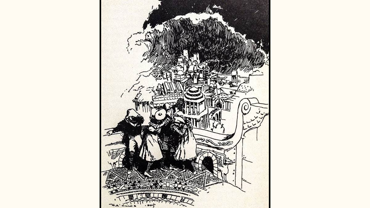 H. R. Millar's illustration from The Story of the Amulet