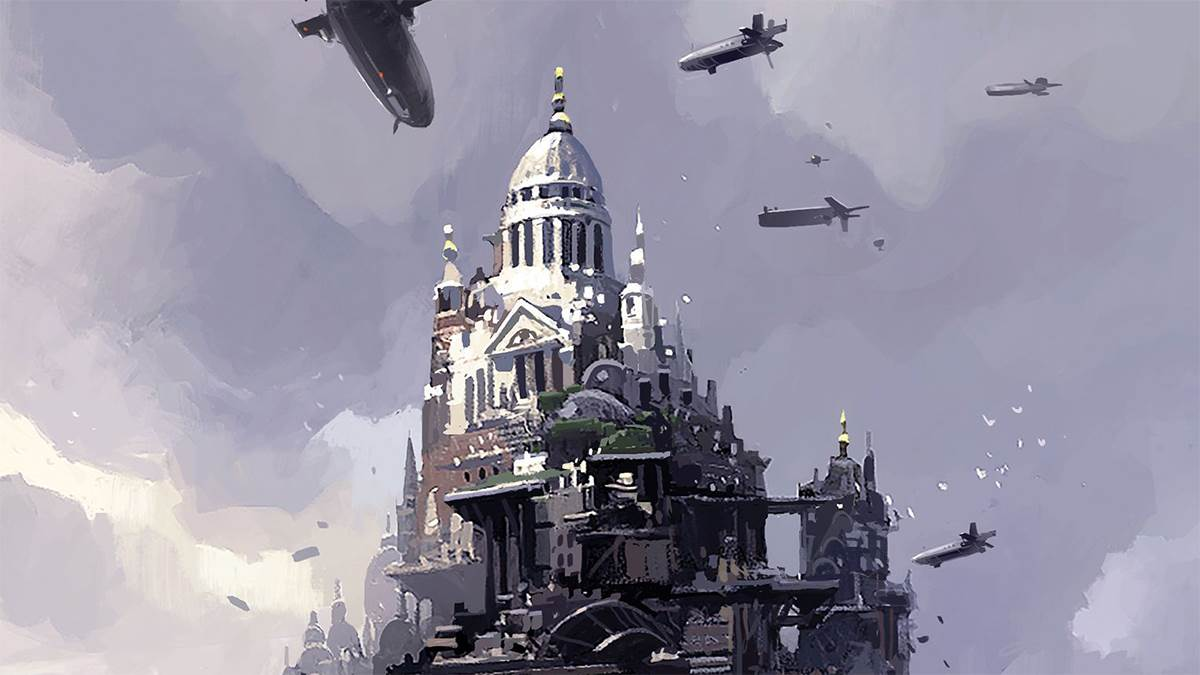 The front cover of Mortal Engines
