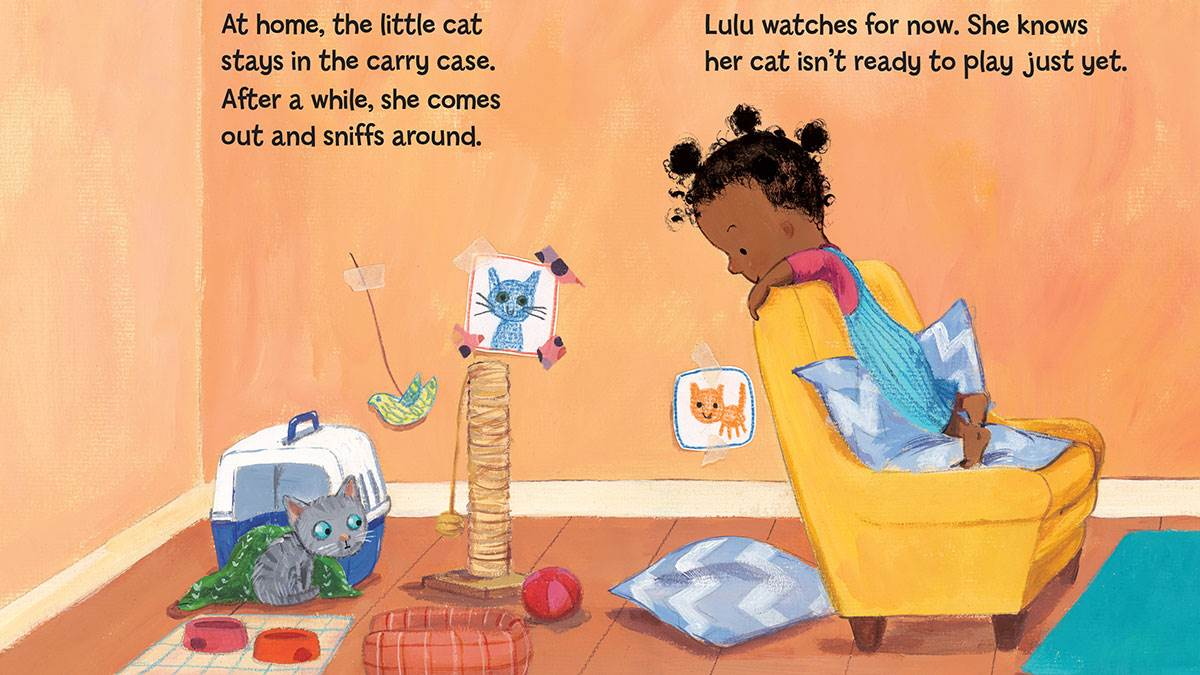A spread from Lulu Gets a Cat