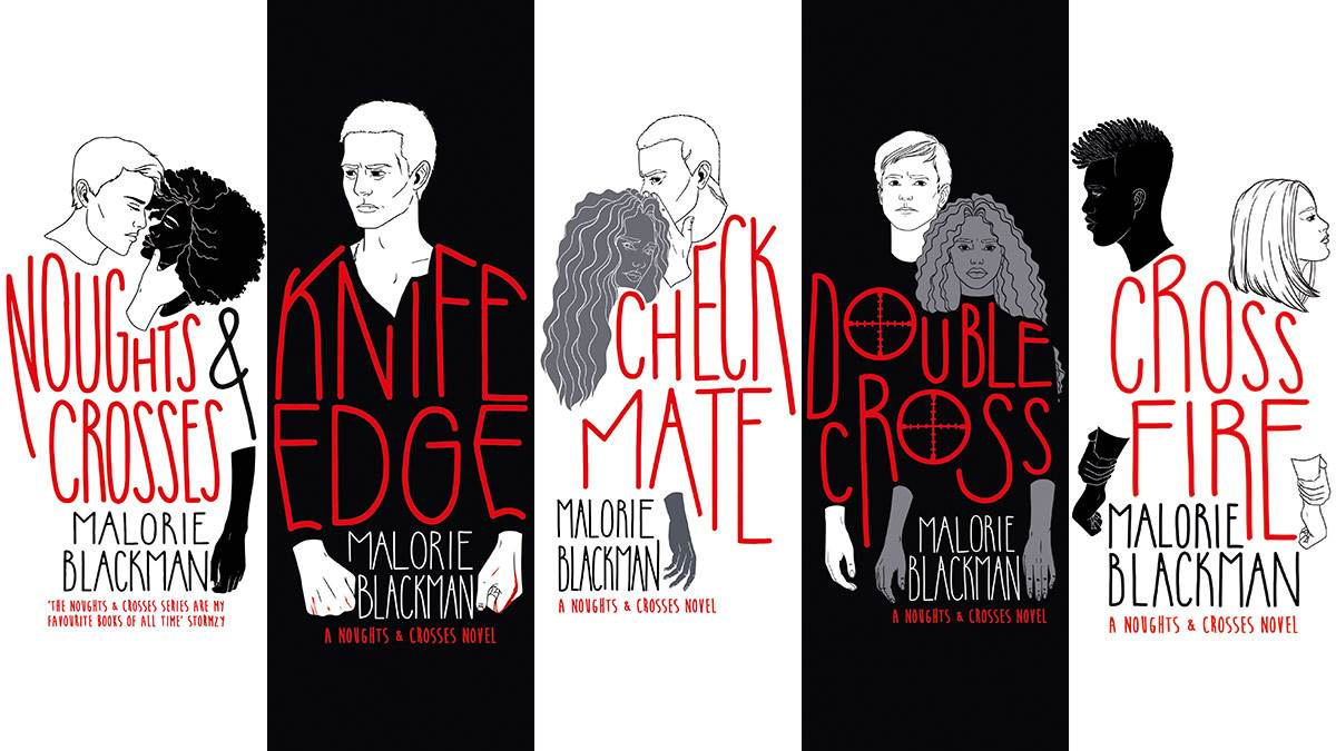 The front covers of the Noughts & Crosses series