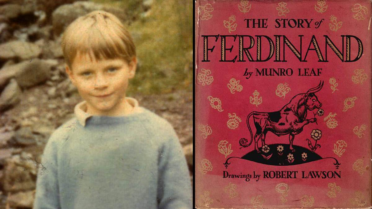 Young James Mayhew and The Story of Ferdinand