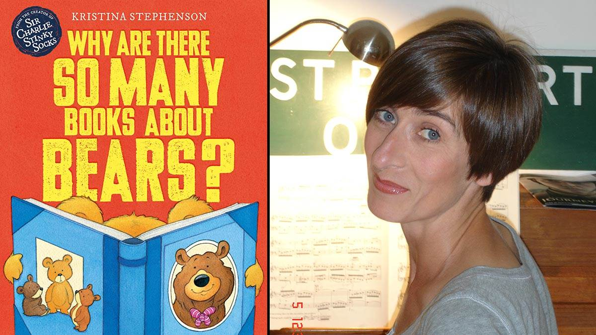 The front cover of Why Are There So Many Books About Bears and author Kristina Stephenson
