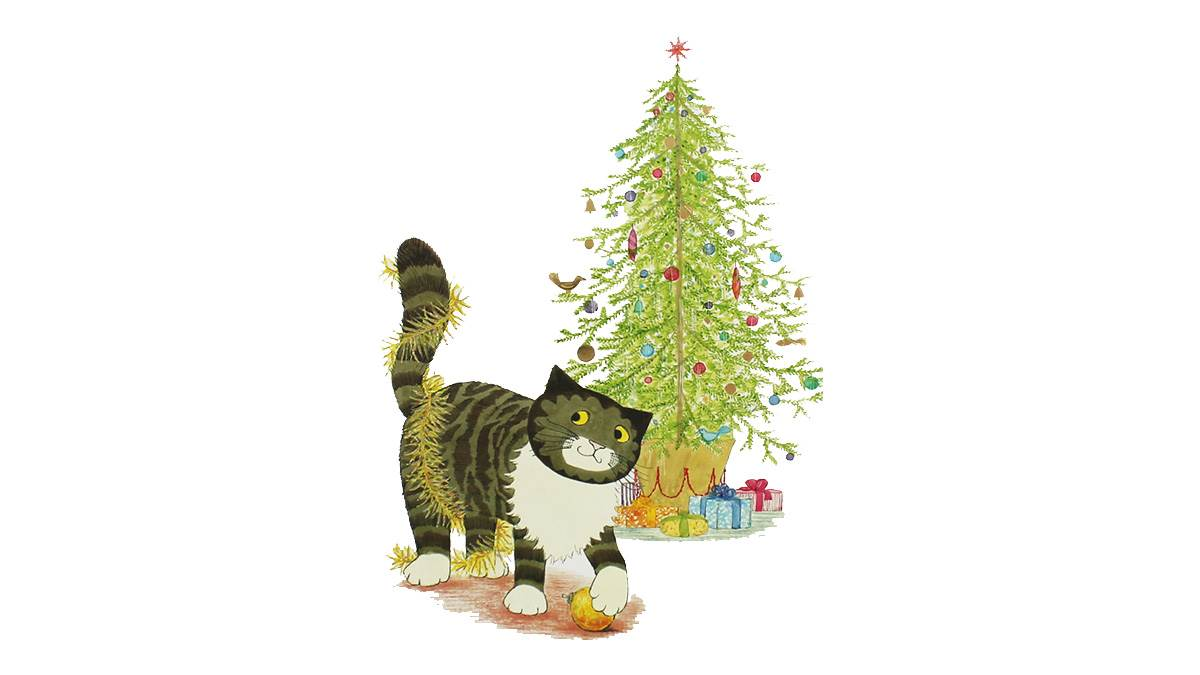 The front cover of Mog's Christmas by Judith Kerr